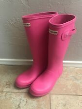 Hunter Original Tall Rain Boots Matte Pink - Size 6 EUR 37