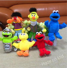 2017 Selling! Sesame Street Elmo Big Bird Soft Plush Toys 6Pcs/Set