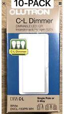 LUTRON DVCL-153PR-WH Single /3-Way 150W CFL/ LED 600W Diva Dimmer, White