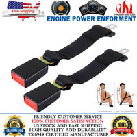 "2pcs Universal Extension 14"" Seat Belt Extender Belt Extension With 7/8"" Buckle"