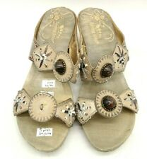 Spring Step Sesame Embellished Slide Wedge Sandals Shoes Women's 37 / 6.5 - 7