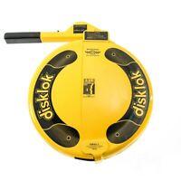 Disklok Security Large 41.5 - 44cm Yellow Disklok Steering Wheel Anti Theft Lock