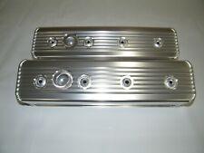 Chevrolet Sbc Tall Aluminum Valve Covers Center Bolt Style Heads Finned 350 383
