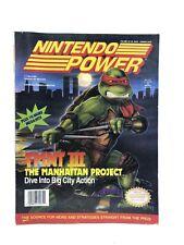 Nintendo Power Magazine Vol. #33 TMNT III SNES NES Lemmings Poster