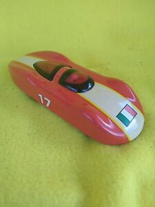 SCHYLLING Red Metal Toy Race Car ITALIAN FLAG #17