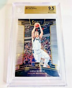 2018-19 PANINI SELECT LUKA DONCIC SILVER ROOKIE CONCOURSE BASE BGS 9.5 GEM MINT