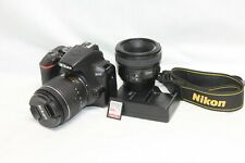 Nikon D3500 24.2 MP Digital SLR Camera with 18-55mm Lens And YONGNUO 50mm / 64GB