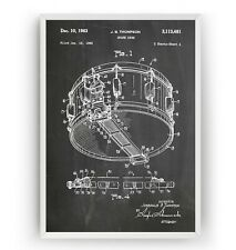 Redoblante 1963 impresión de patentes-arte cartel banda de percusión Regalo-Sin Enmarcar