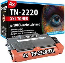4 TN-2220 XXL TONER 100% MEHR INHALT FÜR BROTHER DCP-7060D DCP-7065DN DCP-7070DW