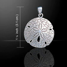 Sand Dollar .925 Sterling Silver Pendant by Peter Stone