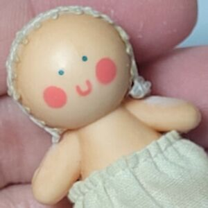 Vintage Dollhouse Miniature Baby Rosy Cheeks AGKTC Hong Kong 1/6th Barbie Scale