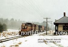 Boston & Maine RR 1127 ,1572 Northfield NH station Dec 1969