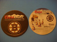 Beer Coaster ~ 2012 COORS Brewing Light ~ Official Partner of the Boston Bruins