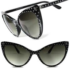 Black Vintage Retro Style Polka Dots Cute Fashion Womens Cat Eye Sunglasses F87