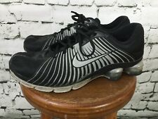 Men's Nike Air Zoom Shox Size 12 Sneakers Shoes Basketball Fitness Black Gray