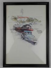 Singapore River Wan Soon Kam 1982 Vintage Art Print