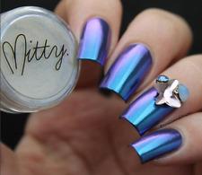 Mirror Chrome Powder AMAZING SHINE 3g by Mitty - Blue Bullet