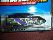 HOT WHEELS LEAN MACHINE GAME OVER SERIES NOC 5SP WHEEL 1:64