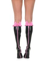 Latex Catsuit Gummi Rubber Socks Calf-Length Stockings Pink Sexy Customize .4m