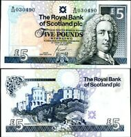 SCOTLAND 5 POUNDS 2000 P 352 AUNC ABOUT UNC