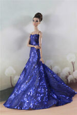 Fashion Party  Blue Bead Fishtail Skirt  Mermaid DressGown For 11 inch. Doll