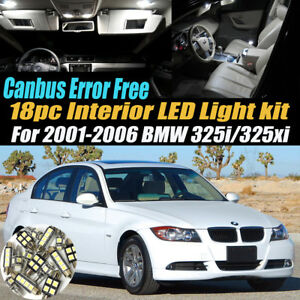 18Pc CANbus Error Free Interior LED White Light Kit for 2001-2006 BMW 325i/325xi