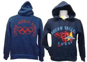 Squaw Valley CA USA Winter Olympics 1960 Mens Size XS Licensed Hoodie $80