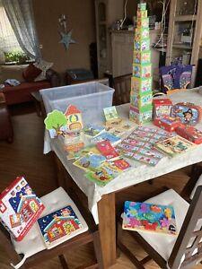 Spielzeug-Paket Kleinkinder Holzspielzeug Puzzle Stapelturm Fädelspiel