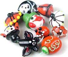 Lampwork Handmade Beads Halloween Fun (10)