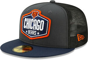 Chicago Bears New Era 5950 NFL 2021 Draft Fitted Team Cap