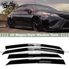 FITS 2018-2021 TOYOTA CAMRY JDM 3D MUGEN STYLE WINDOW VISOR RAIN GUARD DEFLECTOR