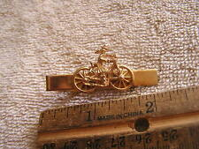 Vintage Tie Clip Clasp with Bicycle
