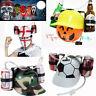 Football Beer Hat Drinking Helmet Game Drink Can Holder Soda Hen Party Halloween