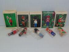 3 Clothespin Soldiers ~ Hallmark Miniature Ornaments & 2 Drummer Boy