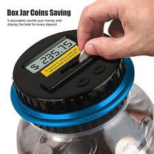 ELECTRONIC LCD US COIN MONEY COUNTING JAR BOX SAVING SAFE DIGITAL PIGGY BANK