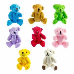 NEW - 8 X Assorted Small Teddy Bears - Cute Cuddly Adorable