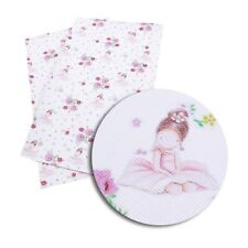 1 X 20CM X 34CM BALLERINA PRINTED SYNTHETIC LEATHER SHEET PERFECT FOR HAIR BOWS