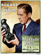 THE MALTESE FALCON LOBBY WINDOW CARD # 9B POSTER 1941 HUMPHREY BOGART MARY ASTOR