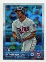 2015 Topps Update BYRON BUXTON Rookie Card RC #US25 RAINBOW REFRACTOR Twins SP