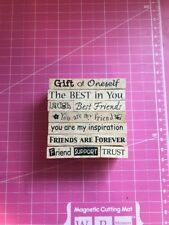 Sayings 10 Pc Rubber Stamp Set