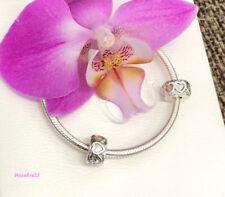 Pandora Row of Hearts Clip Charm Lot of 2, Bracelet Bead, New, #791978