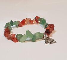 Gemstone Bracelet + Butterfly or Elephant Charm, Gift, Ladies, Birthday, Mum