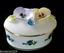ROYAL STRATFORD TRINKET BOX TO MOTHER WITH LOVE WITH PANSYS BONE CHINA PERFECT