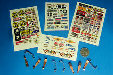 HO Slot Car Parts WIDE PAN Tyco 440 440x2 Pickup Shoe Lot, 5 Sets & STICKERS