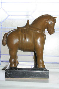 Fernando Botero Bronze Etruscan Horse Signed Foundry Seal #3 of 6