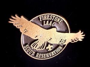 CatalinaStamps: Firestone LAAC Scout Reservation Pin, Lot #F