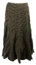 Per Una Womens Boho Brown Corduroy Panelled Long Flare Autumn Maxi Skirt 14 Reg