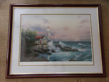 Thomas Kinkade Beacon Of Hope Framed Under Glass Lithograph