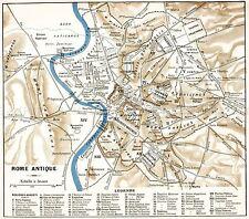 Mapa Antiguo histórico 1870 De La Antigua Roma Ciudad Plan réplica cartel impresión pam0915
