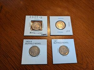 Buffalo nickel  4 coin lot S and P mints  1918-1927